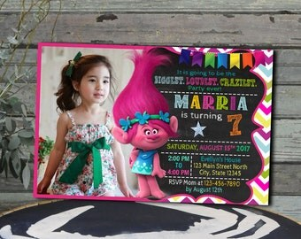 Trolls Invitation / Trolls Birthday / Trolls Party / Trolls Birthday Invitation / Trolls Printable / Trolls Invite / Trolls Party Invitation