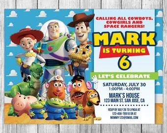 Toy Story Invitation, Toy Story Birthday, Toy Story Invite, Toy Story Party, Toy Story Printables, Toy Story Custom, FREE 4x6 Thank You Card