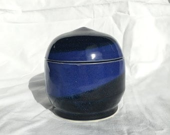 Black and Blue Lidded Container