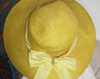 Vintage straw hat 60/70
