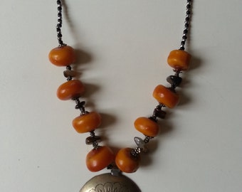 African Amber Nomad Necklace