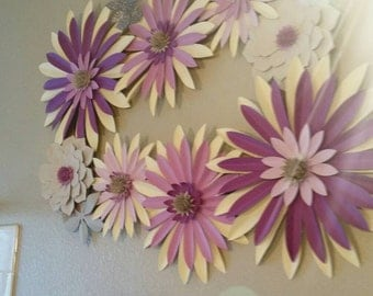 Beautiful backdrop in a purple fusion consisting of 8 flowers,this one is available.