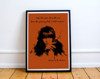 Art print Florence and the Machine A4 Poster - Florence And the Machine poster