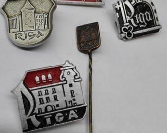 Set of 5 Pin Vintage Brooch