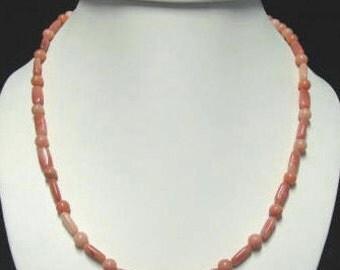Peach Quartz Necklace, bracelet and earrings