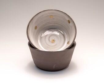 24k gold dot dessert bowls set of 2