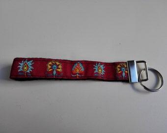 Toons red bracelet original Keychain keychain Keychain keyring Keychain gift gift embroidered strip holder keys handmade handmade