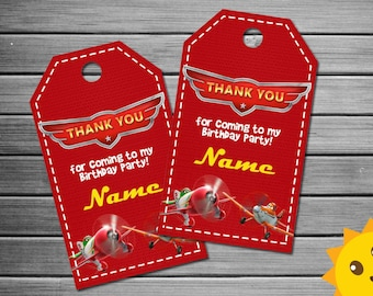 Planes Thank You Tags, Planes Birthday Favor Tags, Planes Party Tags, Planes Favor Tag, Planes Thank You Printables, Planes Labels, cars