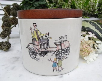 Vintage tobacco pot tobacco Tin porcelain mid century design