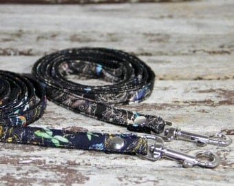 Liberty of London adjustable dog collar and lead set, pet accessories, metal side release, Chihuahua collar, puppy collar