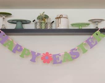 Glitter Happy Easter Banner