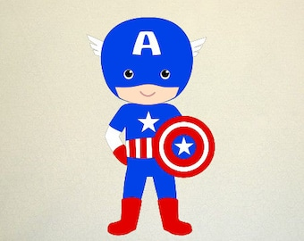 Superhero kid SVG Clipart Cut Files Silhouette Cameo Svg for Cricut and Vinyl File cutting Digital cuts file DXF Png Pdf Eps vector clip art