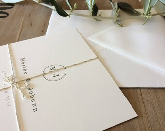French Wedding Invitation Olive & Gold
