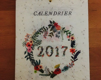 Calendar to plant 2017 - 13 sheets 5 different seed - 12 quotes