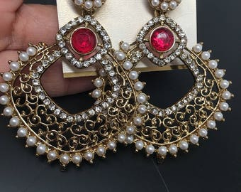 Amaya Series - Earrings with pearls and choices in rhinestones