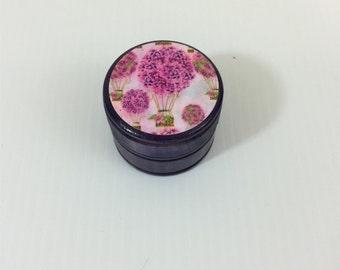 Lilac Hot Air Balloon Wood Trinket Ring Box