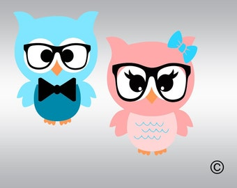 Owl svg, Owl clipart, Baby owls svg, Owl decal, Owl with bow svg, SVG Files, Cricut, Cameo, Cut file, Files, Clipart, Svg, DXF, Png, Eps