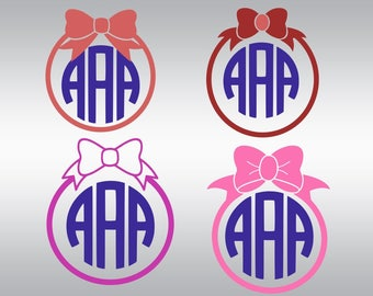 Bow svg, Bow monogram svg, Large Bow svg, Girly svg, Monogram svg, svg for girls, Cricut, Cameo, Cut file, Clipart, Svg, DXF, Png, Pdf, Eps