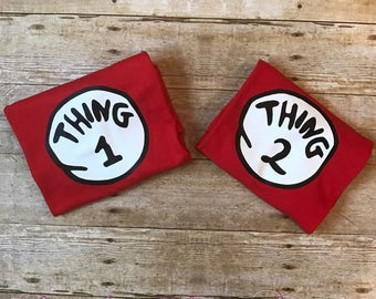 Thing 1 and Thing 2 Shirts, Dr. Suess Shirt, Cat In The Hat Shirt, Dr. Suess Day, Dr. Suess Birthday Gift, Thing One, Thing Two