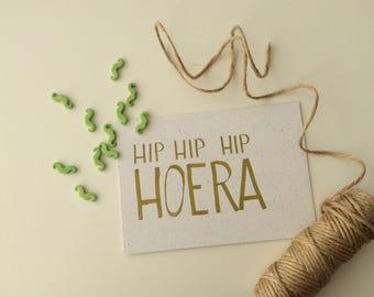 Hip hip hip Hooray! Birthday card