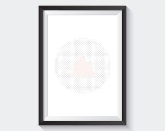 Triangles / Circle, Geometric Pattern