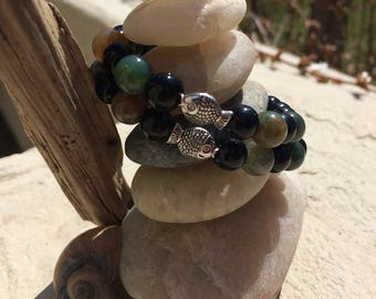 A Phishy Piece for our Phishy Phriends-Black Onyx and Fancy Jasper with a Little Phishy Looking Phish