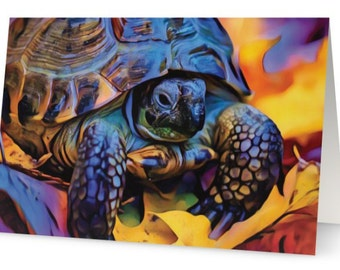 Russian Tortoise Art Card
