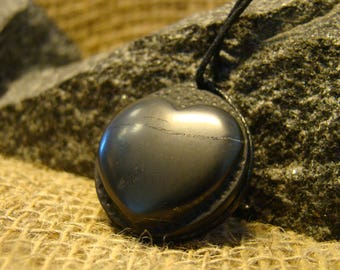 """Shungite pendant """"Heart"""" is an exclusive from Karelia."""