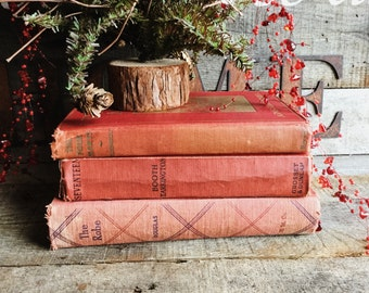 Old Books - Very Old Decorative Red Novels