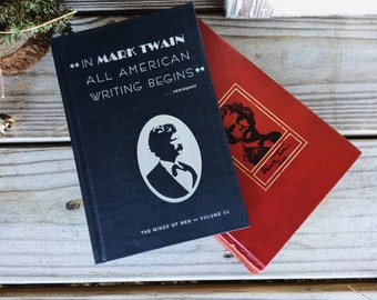 Old Books - Old 1920's & 1960's Mark Twain Books FREE SHIPPING
