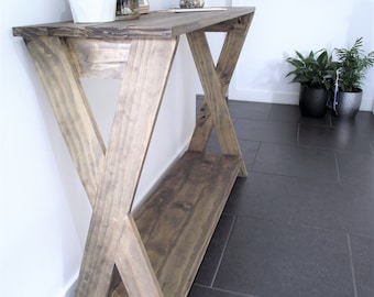 "Rustic console table ""X legs"""