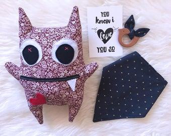 CHERRY - Cool Design Monster (35cm x 30cm x 8cm)/Friendly Monster/Soft Toy