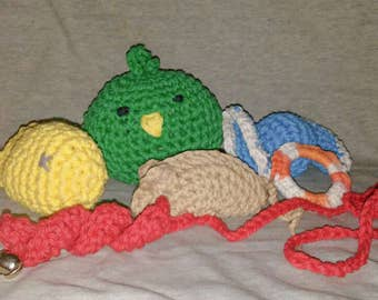 6 Crocheted Cat Toys - Catnip and Crinkle Toys
