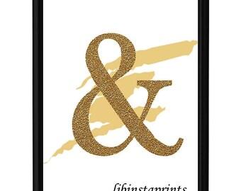 Ampersand Wall Art ampersand wall decor | etsy