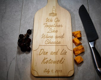 Personalized Cutting Board - Wedding Gift - Wine Decor - Anniversary - Housewarming - Gift for Parents - Gift for Mom - Personalized Gifts