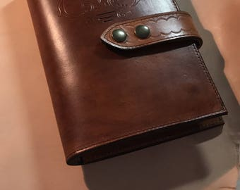 Leather handmade journal cover