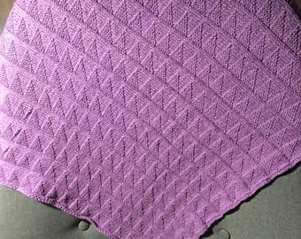 Patterned Cotton Pram/Baby Blanket