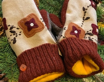 Upcycled Sweater Mittens