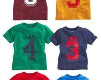 Kid's T-Shirt with Age Printed