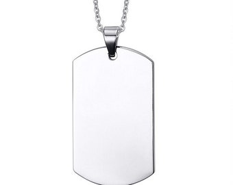 Stainless Steel Dog Tag With FREE ENGRAVNG