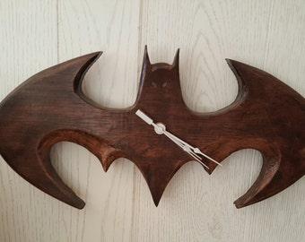 Handcrafted Bat Clock