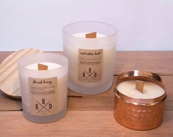 Large Wood Wick Soy Wax Candle