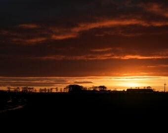 Sunset near Crail