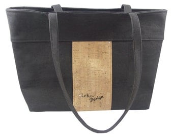 LeKo-design - Cork, spacious shoulder bag made of Cork fabric