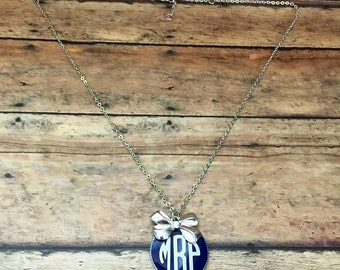 Customized Monogram Initial Necklace