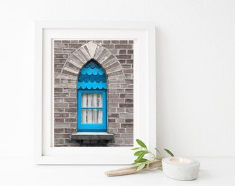 Printable photography downloads. Blue Cornish window photo. Window frame overlay PNG file included. For wall art, greetings cards, mugs etc