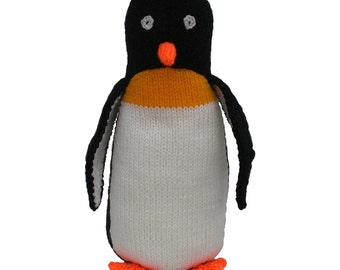 Child's Knitted Penguin Toy