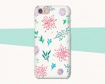 Watercolor Flower Phone Case, Flower iPhone Case, iPhone 6 Case, iPhone 7 Plus Case, Floral iPhone Case, iPhone Case Flowers, iPhone 6S Plus