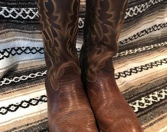 TONY LAMA western boots, mens size 10D