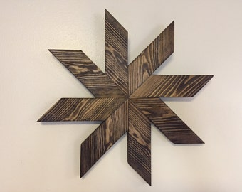 Wooden Pinwheel Wall Art